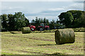NZ0726 : Silage baling near Woodland by Trevor Littlewood