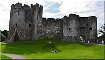 ST5394 : Chepstow Castle: Marten's Tower and the main gatehouse by Michael Garlick