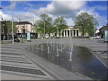 J0407 : Dundalk - Pavement fountains, Market Square by Colin Park