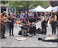 NT2573 : Street performers in the Grassmarket (3) by Jim Barton