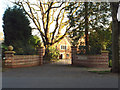 SP1197 : Four Oaks House and entrance, Ladywood Road, Four Oaks Park, Sutton Coldfield by Robin Stott