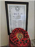 TM3464 : The Rendham Congregational church War Memorial by Adrian S Pye