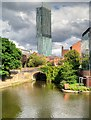 SJ8397 : Castlefield Basin and Beetham Tower by David Dixon