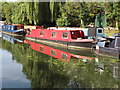 TQ1383 : Emily Rose, narrowboat on Paddington Branch canal by David Hawgood
