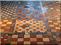 NZ1198 : Brinkburn Priory - tiled floor by Andrew Curtis