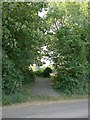 TR3153 : Northbourne Road: junction with Lonely Lane along west side of Updown House park by Hugh Craddock