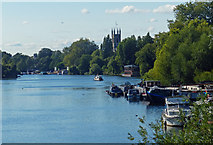 TQ1469 : St Mary's Church and the River Thames, Hampton by Mat Fascione