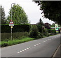 SO3700 : Long vehicles in middle of road warning sign, Usk by Jaggery