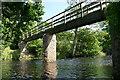NY7708 : Footbridge over the River Eden by Graham Hogg
