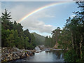 NH2828 : River Affric downstream from the Dog Falls car park by Julian Paren