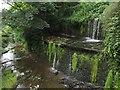 SD9952 : Weir beside Eller Beck by Graham Robson