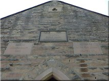 SK2563 : Stanton Lees Chapel: inscriptions (i) by Basher Eyre