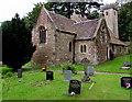 SO3700 : West side of St Madoc's Church Llanbadoc by Jaggery