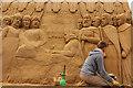 SK9771 : Magna Carta sand sculpture by Richard Croft