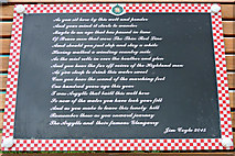 NS2573 : Plaque at the Argyll & Sutherland Highlanders memorial well by Thomas Nugent