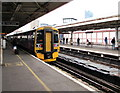 SU6200 : Cardiff Central train at platform 3, Portsmouth Harbour station by Jaggery