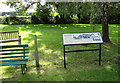 SZ5788 : Information board and benches, Ashey station  by Jaggery