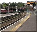 ST3088 : Electronic display board, platform 4, Newport railway station by Jaggery