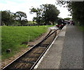 SZ5391 : Points at the NW end of Wootton railway station, Isle of Wight Steam Railway by Jaggery