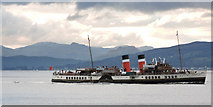 NS3275 : PS Waverley passing Port Glasgow by Thomas Nugent