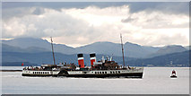 NS3274 : PS Waverley passing Port Glasgow by Thomas Nugent