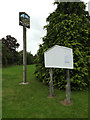 TQ7194 : Ramsden Bellhouse Village sign & St.Mary the Virgin Church Notice Board by Adrian Cable