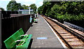 SZ5990 : Green benches on Smallbrook Junction railway station by Jaggery