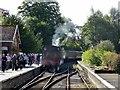 SD3787 : Steam train at Lakeside by Philip Platt