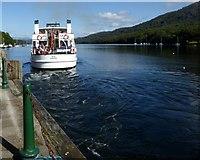 SD3787 : MV Teal leaving Lakeside by Philip Platt