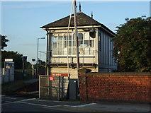SK7954 : Signal box near Newark Castle Railway Station by JThomas