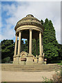 SE3337 : Barrans Fountain, Roundhay Park by Stephen Craven