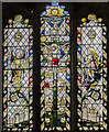 TF1169 : Stained glass window, St Lawrence's church, Bardney by Julian P Guffogg