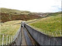 NN9104 : Spillway, Upper Glendevon Reservoir by Richard Webb