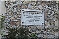 TQ5840 : Church of St Luke - foundation stone by N Chadwick