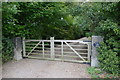SE7904 : Gate and driveway to Epworth Grange by Graham Hogg