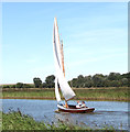 TG4013 : Sailing boat on the River Bure by Evelyn Simak