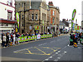 NY9363 : Tour of Britain Sprint Finish, Priestpopple, Hexham by Oliver Dixon