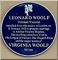 ST7847 : Woolf blue plaque on Frome railway station by Jaggery