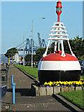 NS2677 : Buoy on Greenock Esplanade by Thomas Nugent