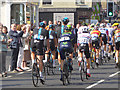 NY9363 : Rear view of the peloton, Aiviva Tour of Britain by Oliver Dixon
