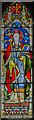 SK8172 : Stained glass window, St Gregory's church, Fledborough by Julian P Guffogg