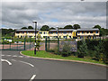 SE3337 : Entrance to Roundhay primary school by Stephen Craven