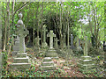 SE3337 : Former St John's church, Roundhay- south churchyard by Stephen Craven