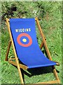 NY6441 : Team Wiggins deck-chair near Hartside summit by Andrew Curtis