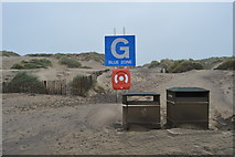 TQ9618 : Muster Point G, Camber Sands by N Chadwick