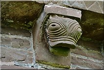 SO4430 : Kilpeck: The church of St. Mary and St. David: Eastern aspect corbel table carving 1 by Michael Garlick