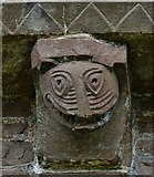 SO4430 : Kilpeck: The church of St. Mary and St. David: Eastern aspect corbel table carving 3 by Michael Garlick