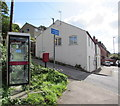 SO8603 : Grey phonebox on a Thrupp corner by Jaggery