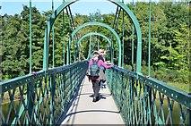 NN9357 : Crossing the River Tummel, Pitlochry by Jim Barton