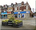 SJ9295 : Flower planters on Manchester Road by Gerald England